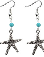 Euramerican Fashion Vintage Personalized  Cute Starfish Earrings Lady Party Drop Earrings Statement Jewelry