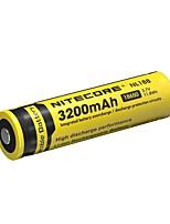 2pcs nitecore 3.7v 11.8wh bateria recarregável 18650 de iões de lítio 3200mAh nl1832