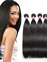 Brazilian Virgin Remy Hair Straight 4 Bundles 100g/pcs Human Hair Extensions Brazilian Straight Hair 400G For Beauty Lady