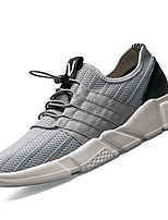 Men's Athletic Shoes Comfort PU Spring Fall Outdoor Comfort Flat Heel White Black Gray Flat