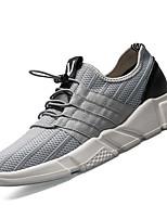 Homme Chaussures d'Athlétisme Confort Polyuréthane Printemps Automne Extérieure Talon Plat Blanc Noir Gris Plat