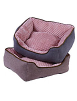 Dog Bed Pet Mats & Pads Solid Warm Waterproof Soft Brown Gray