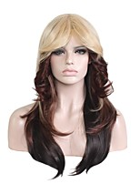 Natural Synthetic Wigs Long Fluffy Wave Ombre Blonde/Brown/Black Cosplay Wigs