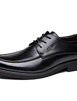 Для мужчин Туфли на шнуровке Кожа Осень Зима Черный Темно-русый 2,5 - 4,5 см