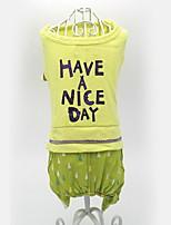 Собака Комбинезоны Одежда для собак На каждый день Буквы и цифры Серый Желтый