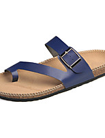 Men's Slippers & Flip-Flops Comfort Light Soles Microfibre Leather Summer Outdoor Casual Water Shoes Buckle Flat Heel Blue Black White