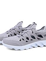 Men's Athletic Shoes PU Summer Fall Running Low Heel Black Gray Brown Under 1in