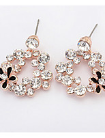 Bohemian  Fashion  Luxury Elegant  Rhinestone Flower Earrings Women's  Casual  Earrings  Set  Gift Jewelry