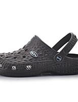 Men's Sandals Comfort Rubber Spring Casual Comfort Rainbow Navy Blue Brown Flat