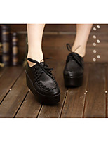 Women's Sandals Comfort PU Leather Spring Casual Black Flat
