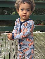 малыш 1 предмет Хлопок Мода Цветочный принт Пэчворк Весна Осень Длинный рукав