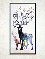 Animal 3D Framed Art Wall Art PVC Material Brown No Mat With Frame For Home Decoration Frame Art