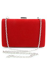 Women Clutch PU Cotton Summer Winter All Seasons Spring Fall Formal Casual Event/Party Wedding Office & Career Baguette Metal ChainClasp