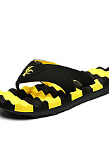 Men's Slippers & Flip-Flops Comfort Fabric Spring Casual Comfort Blue Red Yellow Orange Flat