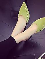 Mujer Tacones PU Primavera Negro Verde Rosa Plano