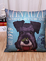 1 Pcs Cartoon 3D Dog 1979Pattern Pillow Cover Personality Cotton/Linen Pillow Case