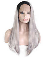 Granny Grey Lace Front Natural Wigs for Women Costume Wigs Cosplay Synthetic Wigs