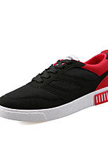 Men's Sneakers Comfort Canvas Tulle Spring Casual Black/White Black/Red Black/Blue Flat