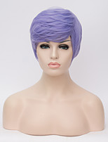 European and American Wigs Light Purple Short Hair Natural Hot Wig 6inch