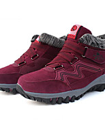 Women's Sneakers Comfort Cowhide Nappa Leather Spring Casual Red Light Grey Gray Flat