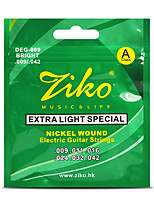Ziko Electric Guitar Strings Set Extar Light Soft Guitar Strings Electric 009 Strings For Guitar Parts