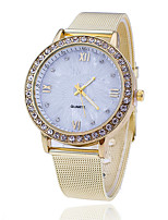 XU Neutral Quartz Alloy Mesh Belt Diamonds Dress Watch