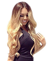 Ombre T1B/27 Full Lace Human Hair Wigs Body Wave with Baby Hair 130% Density Brazilian Virgin Hair Glueless Lace Wig for Woman