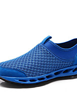 Men's Sneakers Tulle Spring Black Blue Flat