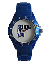 Women's Fashion Watch Japanese Japanese Quartz / Silicone Band Casual Navy