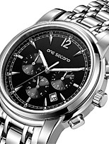 Men's Fashion Watch Mechanical Watch Automatic self-winding Calendar Water Resistant / Water Proof Alloy Band Silver