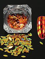 0.2g/bottle New Fashion Nail Art DIY Charming Shining Sequins Decoration Graceful Glitter Horse Eye Leaf Paillette Flakes MB09