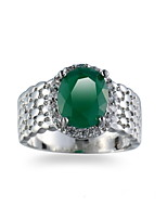 Men's Ring Emerald Unique Design Euramerican Fashion Emerald Alloy Jewelry Jewelry For Wedding Special Occasion Anniversary