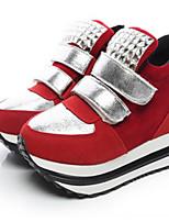 Women's Flats Comfort PU Spring Casual Red Black Flat