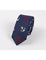 Tie men anchor printed cotton the fashion leisure skinny British wind