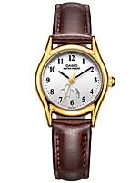 Casio Dames Modieus horloge Polshorloge Japans Kwarts Waterbestendig Leer Band Bedeltjes Creatief Elegante horloges Vrijetijdsschoenen