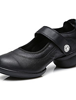 Women's Unisex Dance Shoes Dance for Sneakers/Modern Leather fabric/ Breathable Fashion Black color Customizable