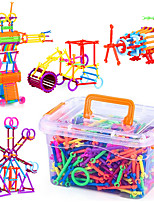 Approx 500PCS Novelty Creative Plastic DIY Smart Intelligence Stick 3D Assembly Building Blocks Construction Educational Toys Set Random Shape Color