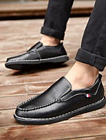 Men's Loafers & Slip-Ons Fall Winter Comfort PU Casual Low Heel Red Black