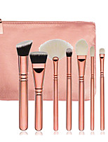 8pcs Rose Gold Makeup Brush Set Blush Brush Eyeshadow Eyeliner Brush Eyelash Brush dyeing Brush Powder Brush Sponge Applicator Synthetic Hair