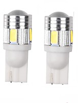 3W White Blue Red Yellow Green Purple DC12V T10 5630 6SMD Len  Door Lamp Inspection Lamp License Plate Light Reading Light 2PCS