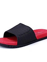 Men's Slippers & Flip-Flops Slingback PVC Summer Casual Flat Heel Red Flat