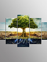Stretched Canvas PrintFive Panels Canvas Horizontal Print Wall Decor For Home Decoration