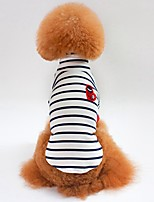 Cat Dog Shirt / T-Shirt Sweatshirt Dog Clothes Casual/Daily Stripe Blue White