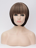Europe and the United States Wig Short Hair Female BOBO Hair Black Polyester Short Hair Straight Hair 10inch