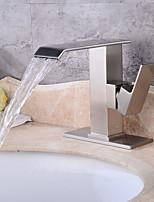 Contemporain Décoration artistique/Rétro Moderne Set de centreSoupape céramique Mitigeur deux trous for  Fileté , Robinet lavabo