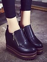 Women's Sneakers Comfort PU Spring Casual Black Flat