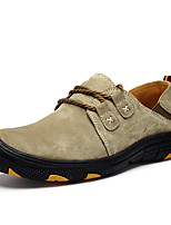 Men's Loafers & Slip-Ons Comfort Light Soles Pigskin Spring/Fall Casual Black/Yellow Khaki Brown Gray Flat