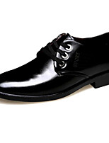 Men's Oxfords Comfort Real Leather Tulle Spring Summer Casual Comfort Black Flat