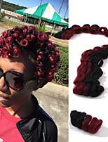 Pré-boucle Tresses crochet Brillant & Séduisant Mariage Européen Style européen 100% cheveux kanekalon KanekalonNoir / Blond Fraise Noir