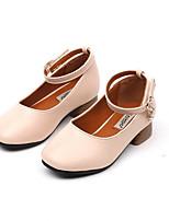 Fille Ballerines Premières Chaussures Polyuréthane Printemps Automne Décontracté Marche Premières Chaussures Scotch Magique Talon Bas